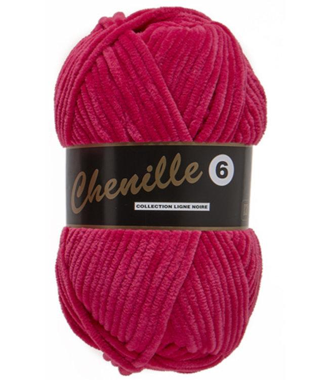 Lammy Yarns Chenille 6 - 020 - roze-rood