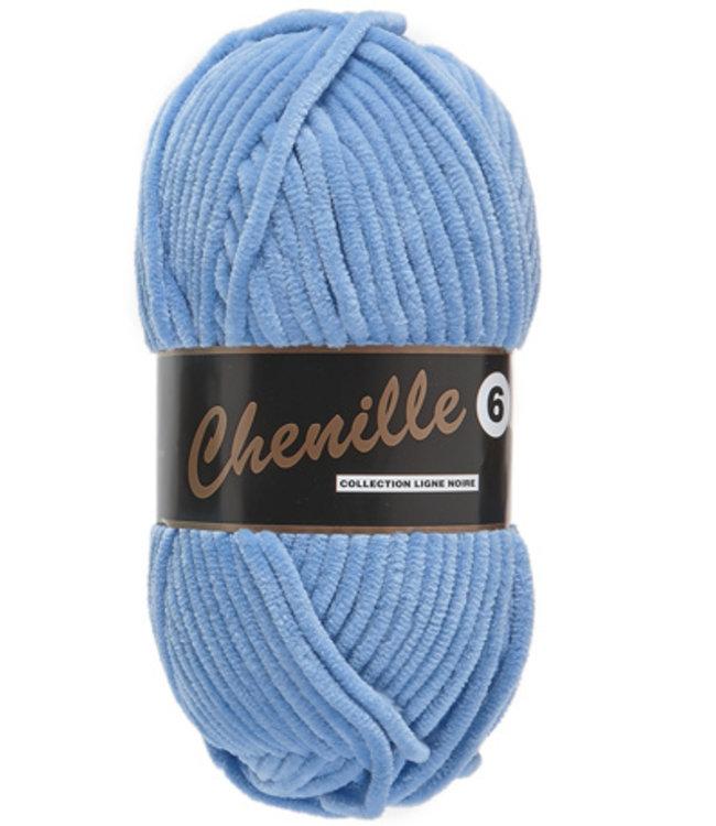 Lammy Yarns Chenille 6 - 040 - hemelsblauw