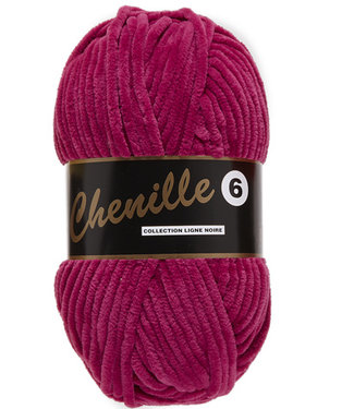 Lammy Yarns Chenille 6 - 730 - donker roze