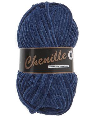 Lammy Yarns Chenille 6 - 890 - diepblauw
