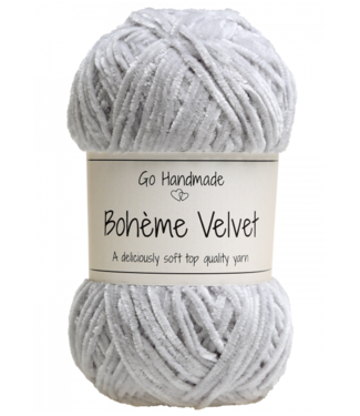 Go Handmade Bohème Velvet Fine - Light Grey