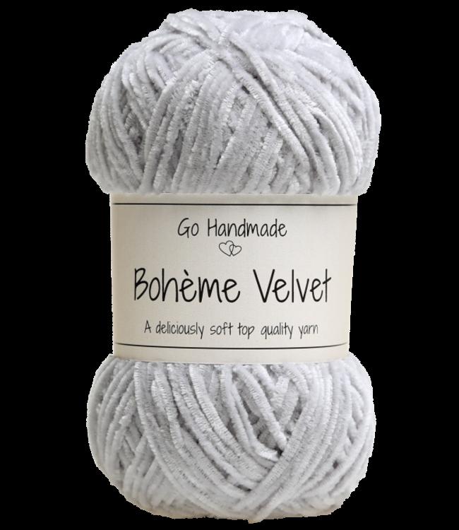 Go Handmade Bohème Velvet Fine - Light Grey