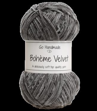 Go Handmade Bohème Velvet Fine - Dark Grey