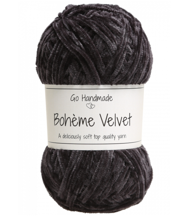 Go Handmade Bohème Velvet Fine - Black