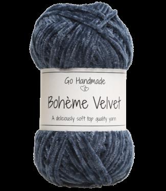 Go Handmade Bohème Velvet Fine - Blue