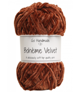 Go Handmade Bohème Velvet Double - Rusty