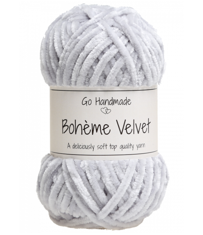 Go Handmade Bohème Velvet Double - Light Grey