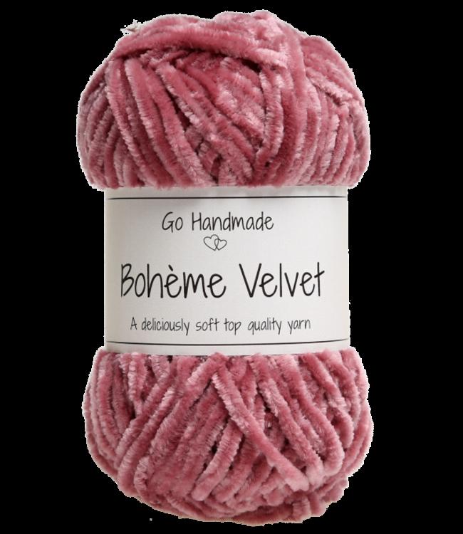 Go Handmade Bohème Velvet Double - Raspberry