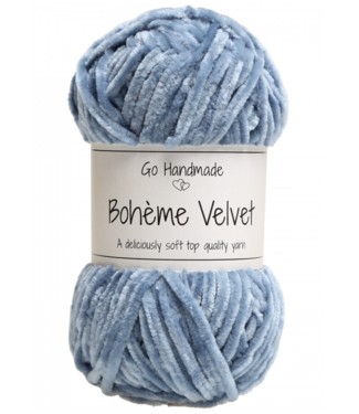 Go Handmade Bohème Velvet Double - Jeans Blue