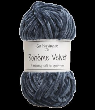 Go Handmade Bohème Velvet Double - Blue