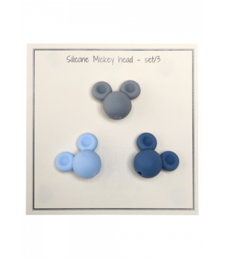 Go Handmade Silikon Mickey blau- 3 Stück