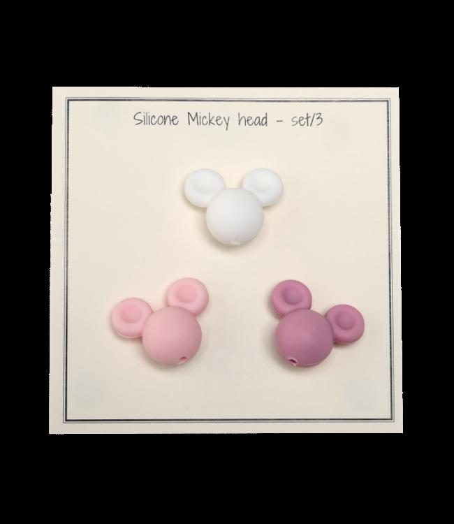 Go Handmade Mickey en silicone rose - 3 pièces