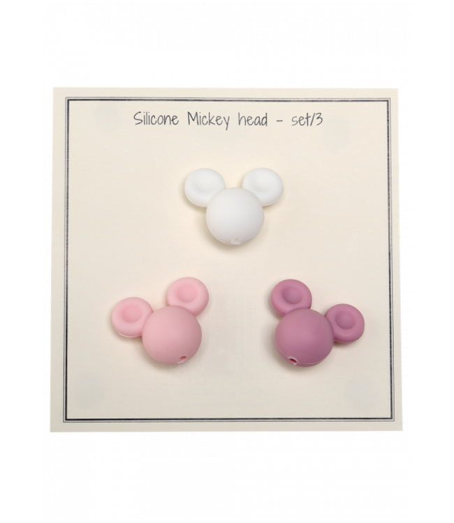 Go Handmade Silicone Mickey pink - 3 pcs