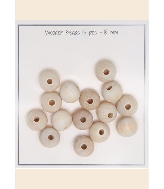 Go Handmade Holzperlen 15 mm - 15 st