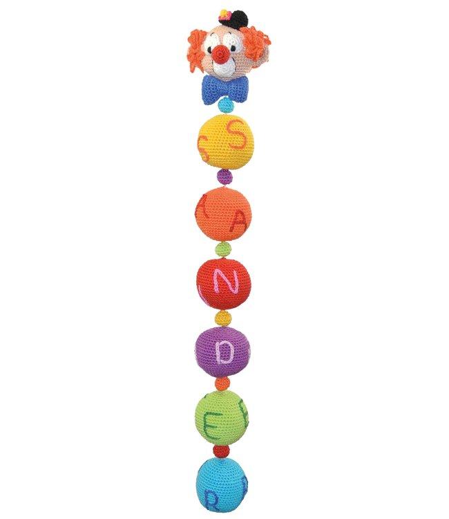 Haakpret Mobile mit Clowns