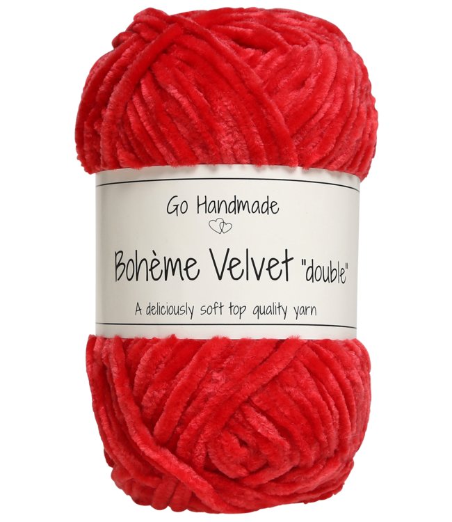 Go Handmade Bohème Velvet Double - Warm Red