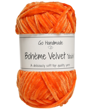 Go Handmade Bohème Velvet Double - Warm Orange
