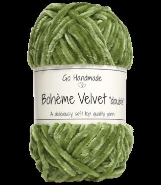 Go Handmade Bohème Velvet Double - Peridot Green