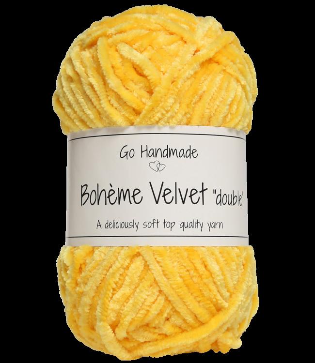 Go Handmade Bohème Velvet Double - Giraffe Yellow