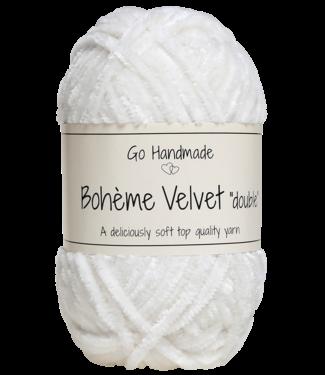 Go Handmade Bohème Velvet Double - Snow white
