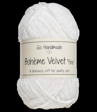 Go Handmade Bohème Velvet Fine - Snow white