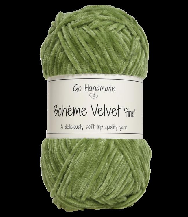 Go Handmade Bohème Velvet Fine - Peridot Green