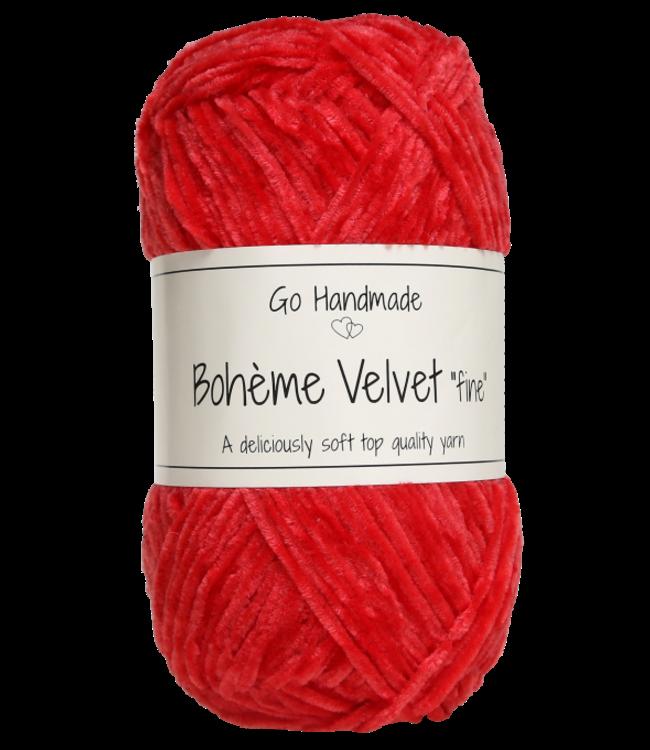 Go Handmade Bohème Velvet Fine - Warm Red