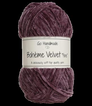 Go Handmade Bohème Velvet Fine - Dark Lavender