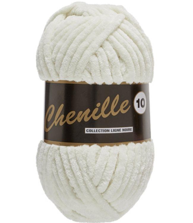 Lammy Yarns Chenille 10 - 200g - 016 - gebroken wit