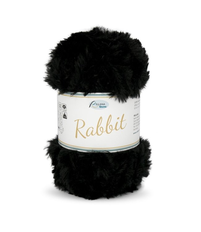 Rellana Rabbit 100g -  02 - zwart
