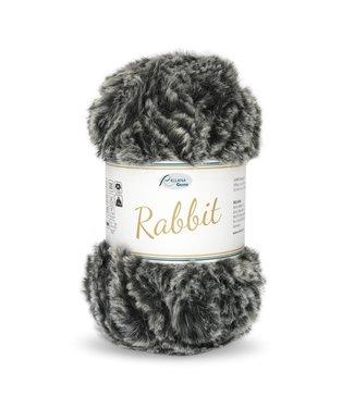 Rellana Rabbit 100g -  15 - schwarzgrau meliert