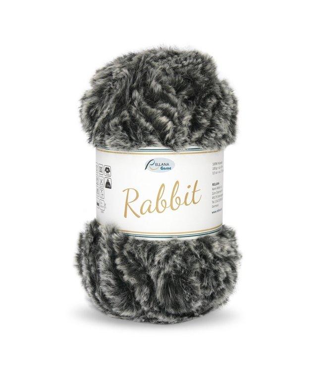 Rellana Rabbit 100g -  15 - zwart-grijs melé