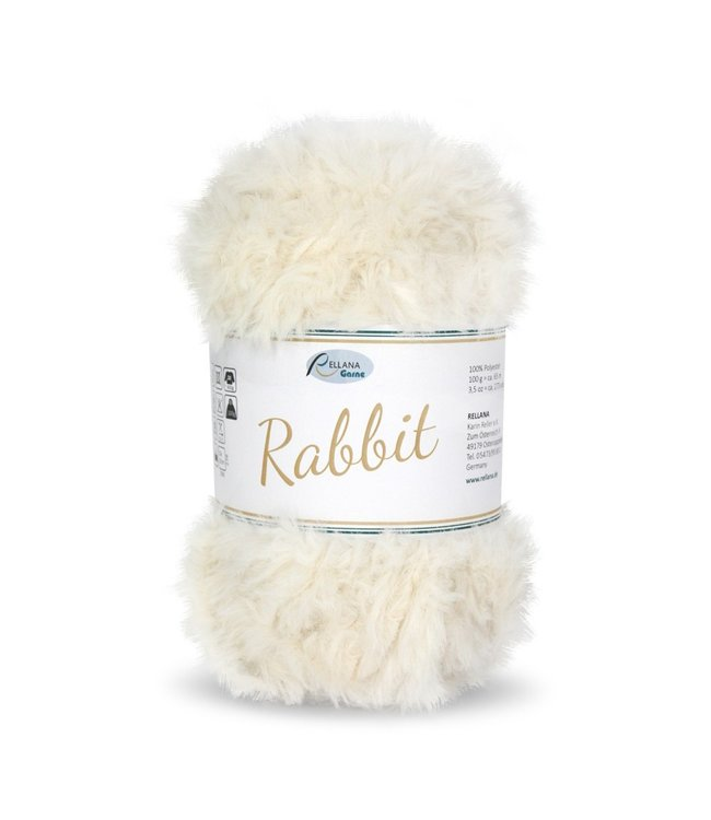Rellana Rabbit 100g -  16 - gebroken wit