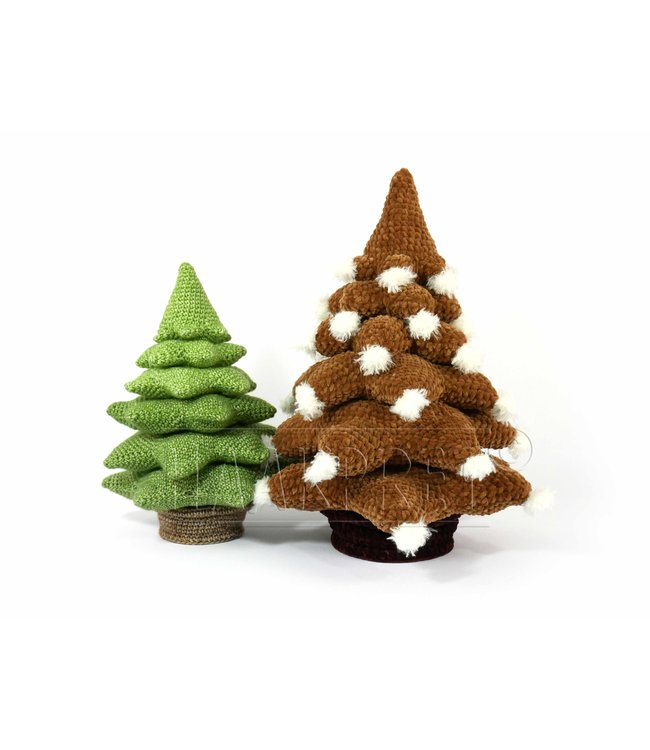 Haakpret Muster Weihnachtsbaum A5 (Niederländisch)