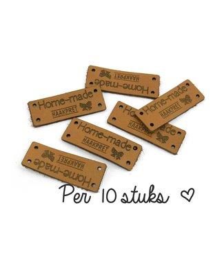 Haakpret 10 x des étiquettes Home-made Haakpret