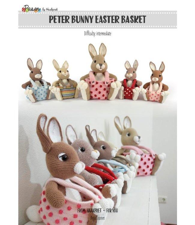 Haakpret Peter Bunny Easter Basket - Engels
