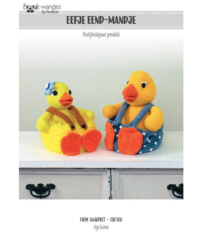 Haakpret Eefje Eendmandje werkbeschrijving A5 - Néerlandais