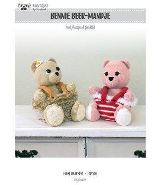 Haakpret Bennie Beer mandje werkbeschrijving A5 - Dutch