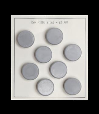 Go Handmade Boîte hochet 22mm - 8pcs - gris