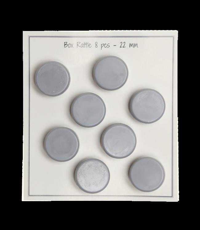 Go Handmade Rasselbox 22mm - 8 Stück - grau