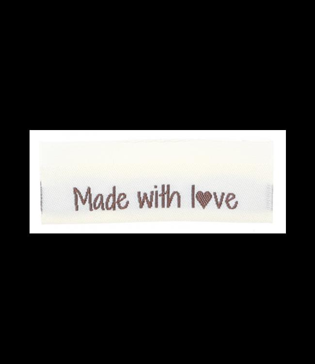 Go Handmade Étiquettes tissées MADE WITH LOVE - 10pcs