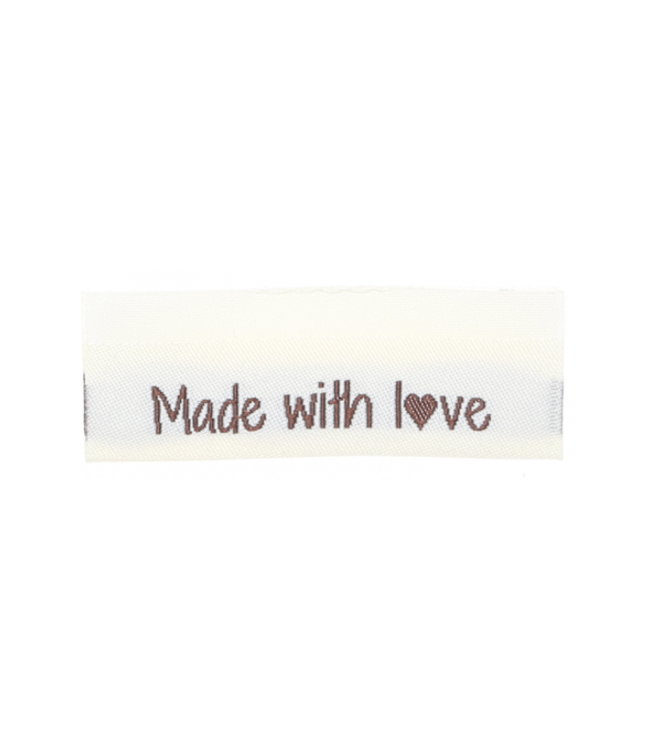 Go Handmade Gewebte Etiketten MADE WITH LOVE - 10 Stück
