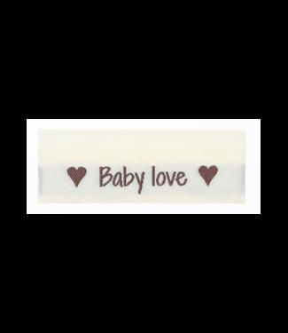 Go Handmade Étiquettes tissées BABY LOVE - 10pcs
