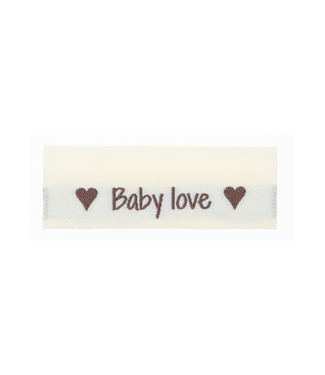 Go Handmade Geweven labels  BABY LOVE - 10st