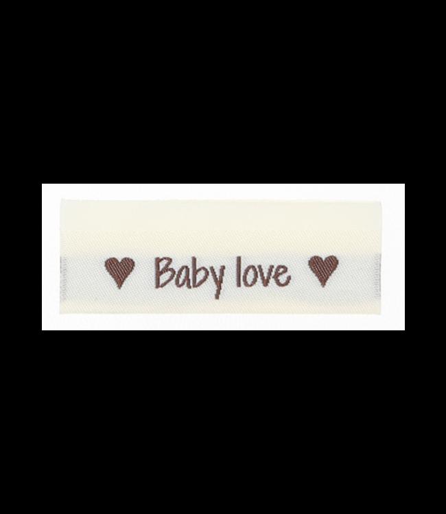 Go Handmade Geweven labels  BABY LOVE - 10st