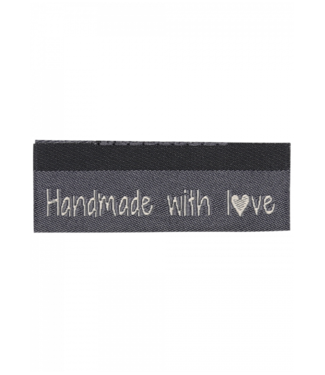 Go Handmade Geweven labels  HANDMADE WITH LOVE - 10st