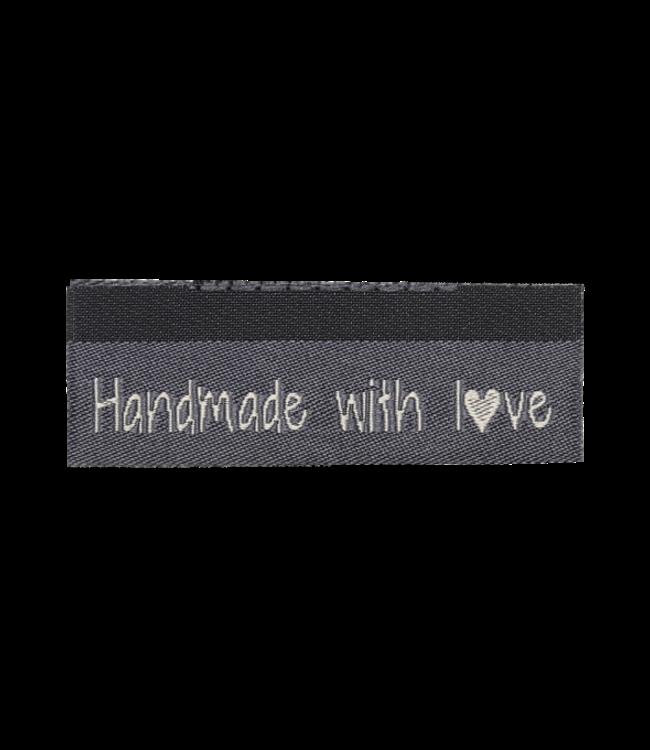 Go Handmade Geweven labels  HANDMADE WITH LOVE - 10st