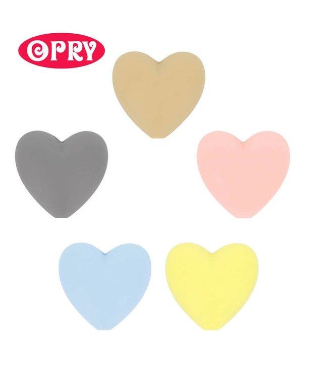 Scheepjes Set van 5 verschillende kleuren silicone hartjes SET 1