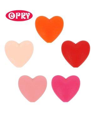 Scheepjes Set van 5 verschillende kleuren silicone hartjes SET 2