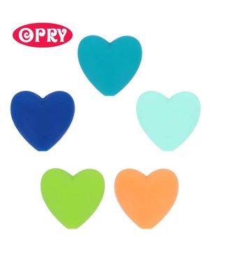 Scheepjes Set van 5 verschillende kleuren silicone hartjes SET 3